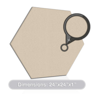 "ADW Acoustic Panels 24"" X 24"" X 1"" Hexagon - Quick Easy DIY Install - See Our Many Color Choices"