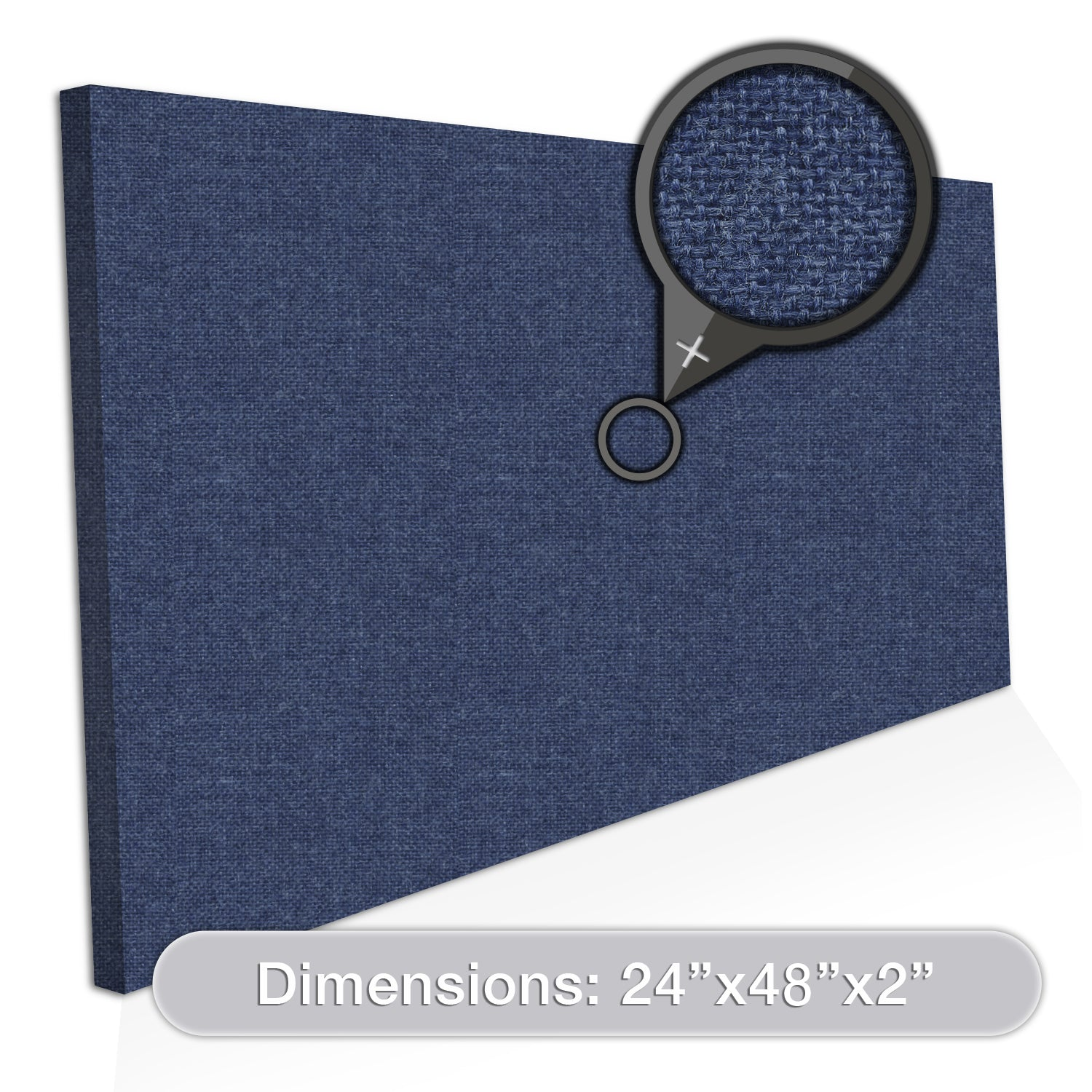 "ADW Acoustic Panels 48"" X 24"" X 2"" Rectangle - Quick Easy DIY Install - See Our Many Color Choices"