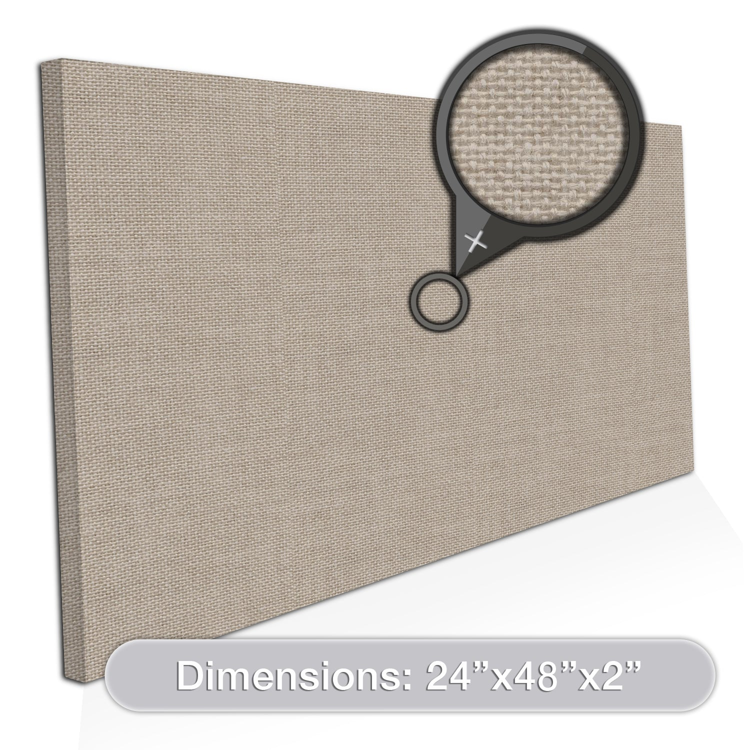 "ADW Acoustic Panel Rectangle - 48"" x 24"" x 2"""