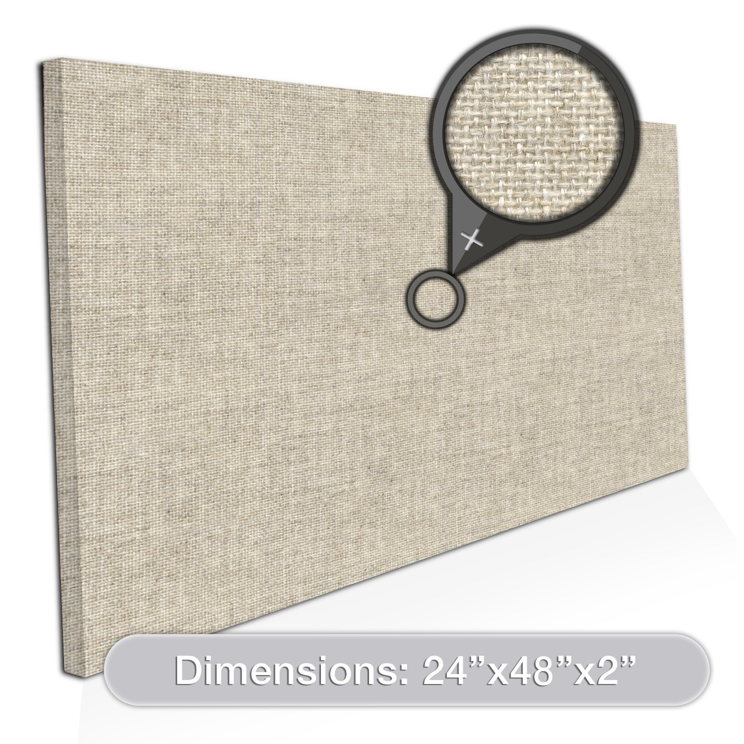"[2-Pack] ADW Acoustic Panels 48"" X 24"" X 2"" Rectangles - Easy DIY Install - See Our Many Colors"
