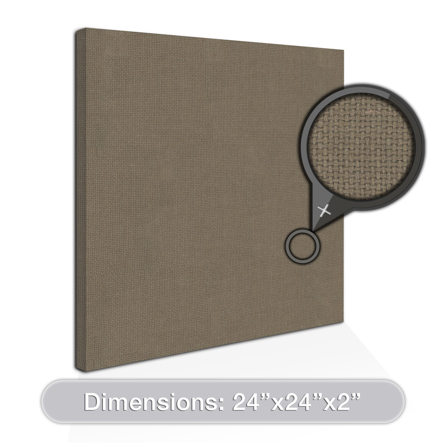 "[2-Pack] ADW Acoustic Panels 24"" X 24"" X 2"" Squares - Quick, Easy DIY Install - See Our Many Colors"