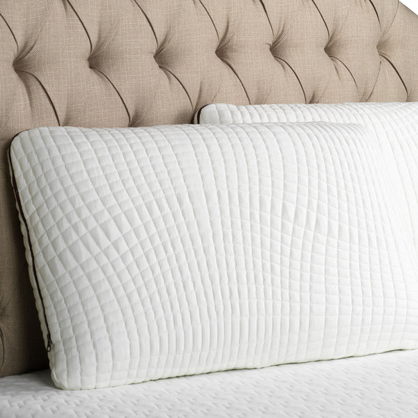 Ventilated Copper Memory Foam Pillow - Washable Cover - BlissfulNights.com