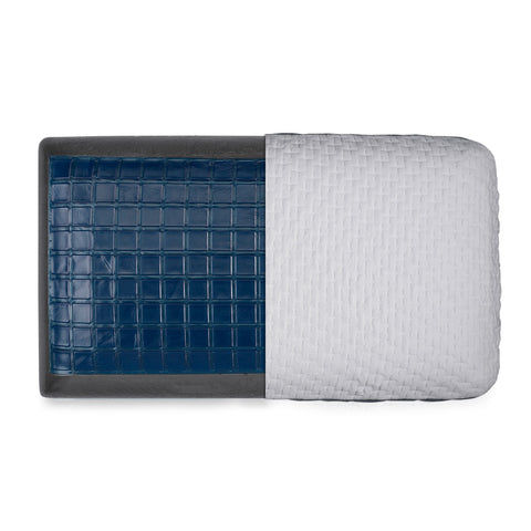Bamboo Charcoal and Gel Memory Foam Pillow - Washable Cover