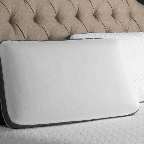 Bamboo Charcoal and Gel Memory Foam Pillow - Washable Cover - BlissfulNights.com