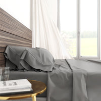 Bamboo Cotton Luxury Sheet Set - Grey