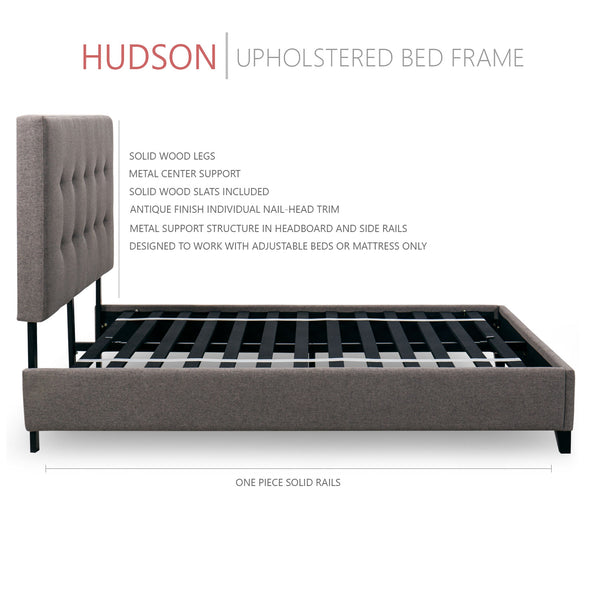 Hudson Upholstered Platform Bed, 50