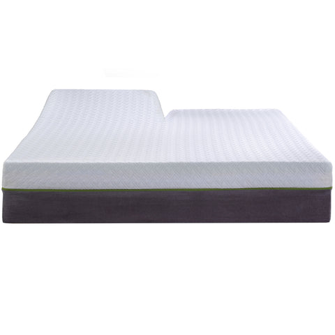 "12"" Copper Gel Infused - Split Head/Flex Top - Medium Firm - Premium Memory Foam Mattress"