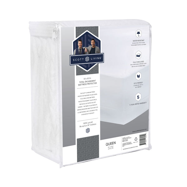 Scott Living Home - Full Encasement Premium Tencel Mattress Protector -100% Waterproof and Hypoallergenic - BlissfulNights.com