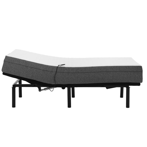 "Adjustable Bed Frame and 10"" Cool Gel Infused Medium Firm Memory Foam Mattress - BlissfulNights.com"