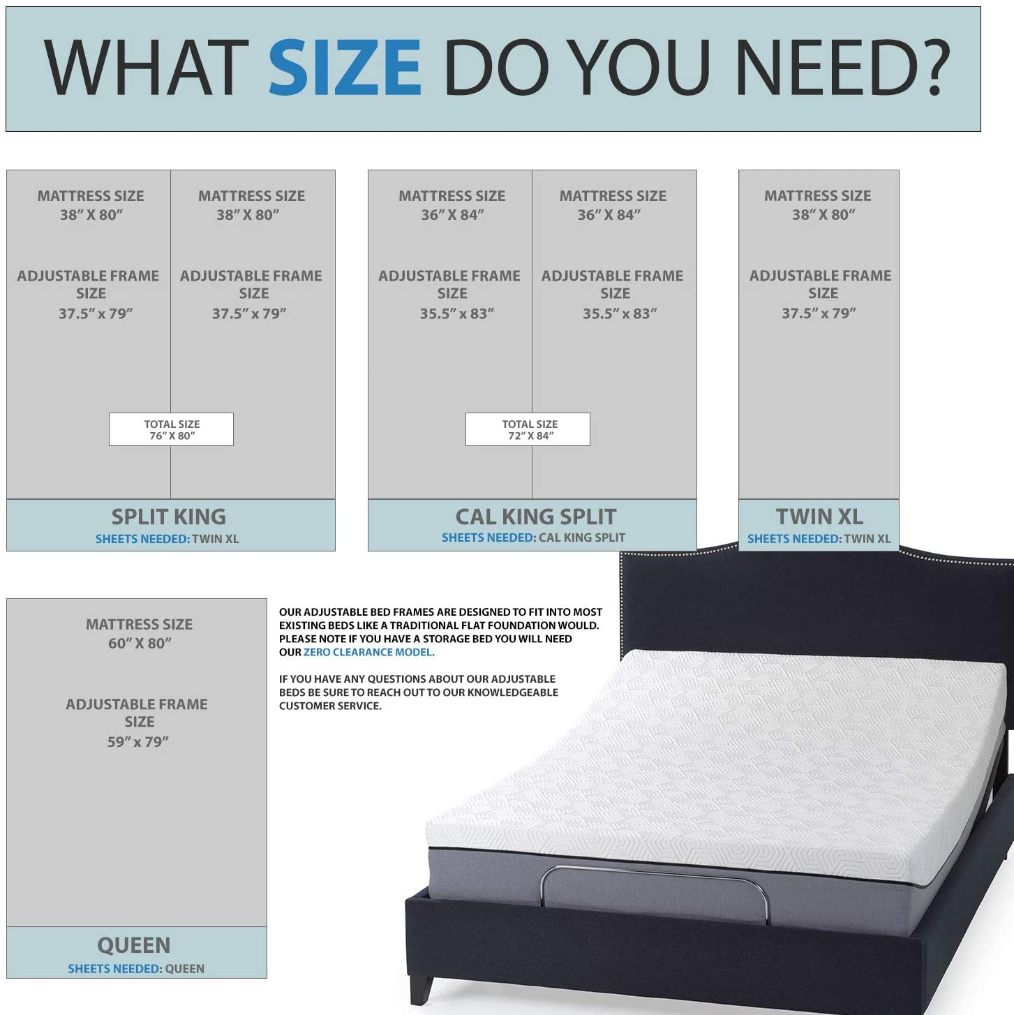 Image of: Zero Clearance Adjustable Bed Frame V3 Designed For Storage Beds Blissfulnights Com