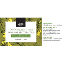 Load image into Gallery viewer, Organic Green Rooibos Matcha Tea