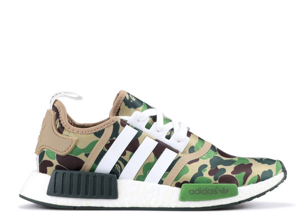Adidas NMD R1 Bape Olive Camo - kicks International