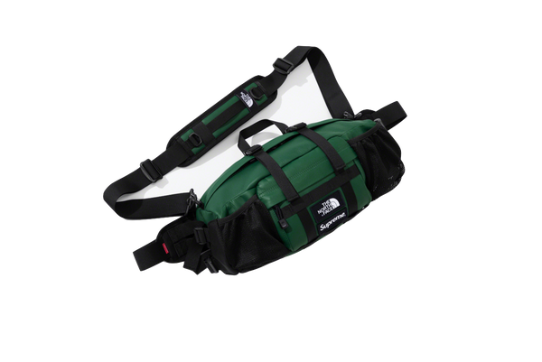 Supreme Leather Mountain Waist Bag 'Green' - kicks International