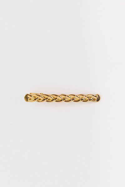 Gold Braid Barrette