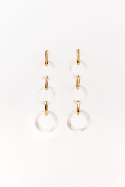 Lucite Drop Hoops