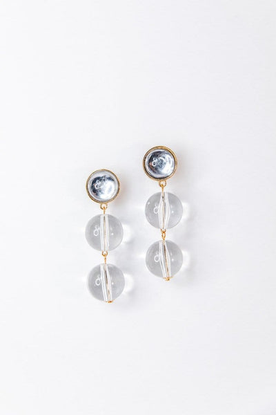 Lucite Sphere Earrings