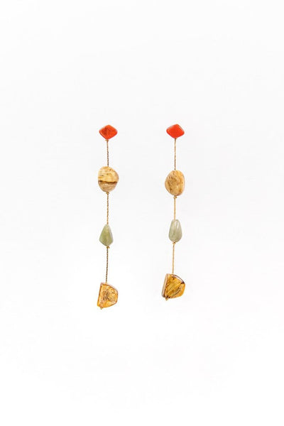 Stone Duster Earrings