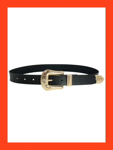 Cinto Gold Western Belt
