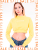 Moletom cropped DEVIL amarelo