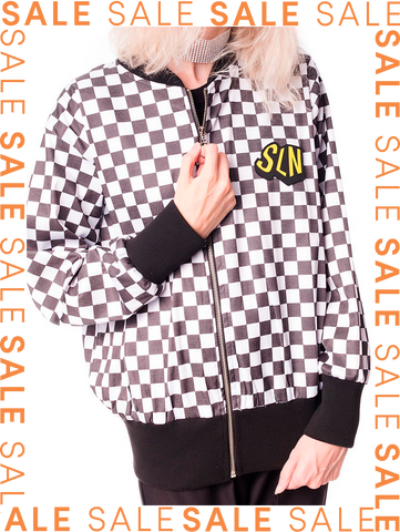 Bomber checkered CHEAP TRICK Saloon 33