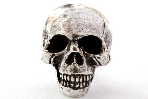 Skull Knob solid metal silver ox finish made in NYC