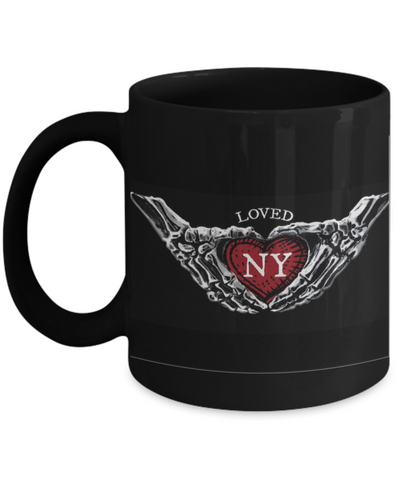Loved NY Black Mug