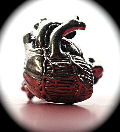 Anatomical Heart Ring in Sterling Silver