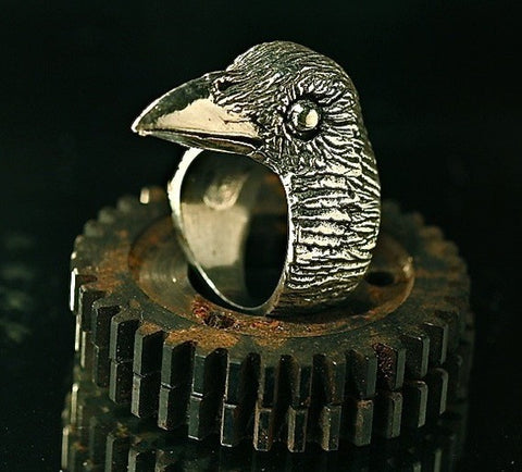 Evermore Raven Ring in Sterling Silver