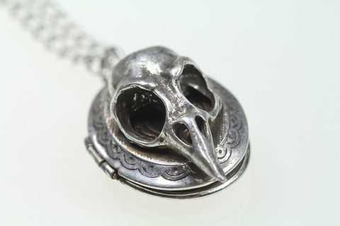 Little Bird Skull Locket