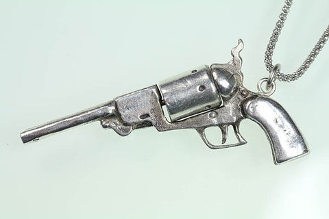 1847 Walker Revolver with Spinning Barrel white bronze & sterling