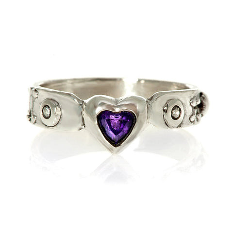 My Heart Amethyst Ring