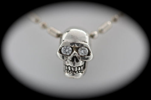 Diamond Eyed Human Skull