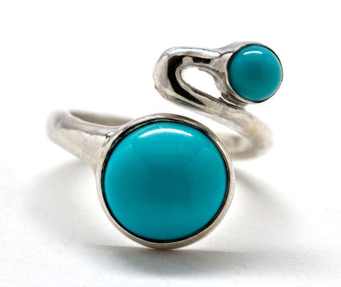 By Pass Ring Turquoise