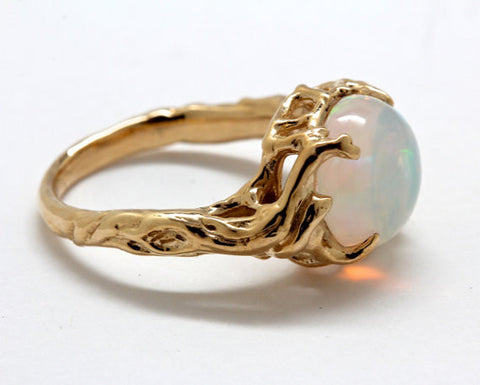 Opal Tree Ring 14k gold