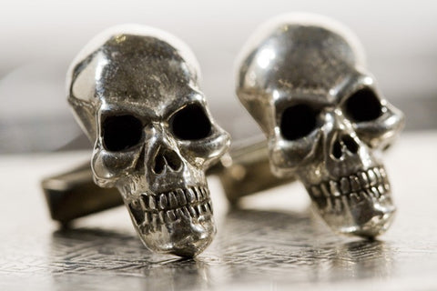 Sterling Silver Skull Cuff Links