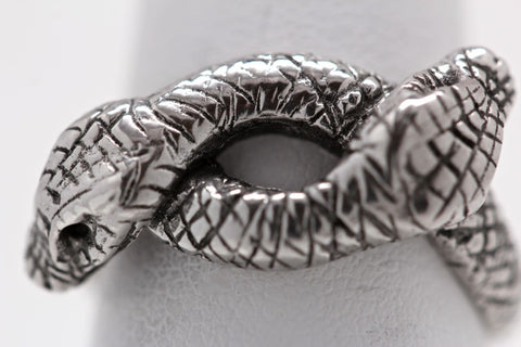 Victorian Double Snake Ring in sterling silver