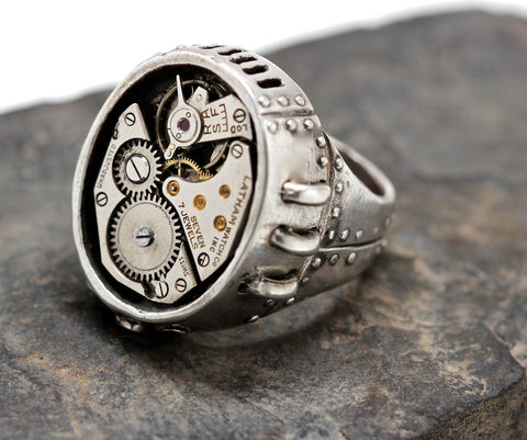 Solid Silver Watch Part Ring