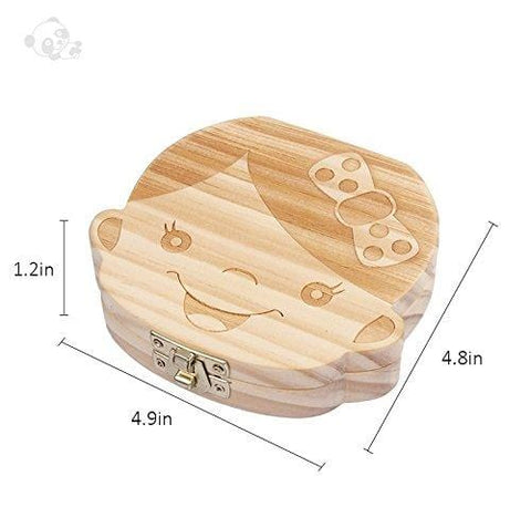 Daily Mother™ Baby Keepsake Box - Wooden Kids Tooth Storage Box