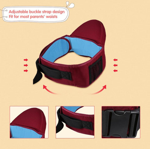 Easy Baby Carrier - Waist Stool Baby Sling - Hold Waist Belt - Hipseat Belt Kids Infant Hip Seat