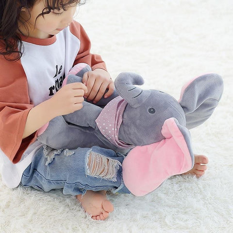 "12"" Peek a Boo Elephant / Teddy Bear Play Hide Seek Stuffed"