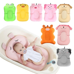 Portable Baby Bath Tub - Air Cushion Non-Slip Bathtub - NewBorn Safety Bath Seat Support