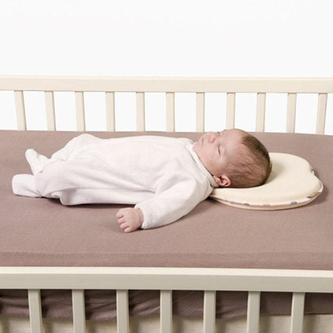 DailyMother™ Baby Flat Head Pillow - Newborn Infant Anti Roll Neck Support - Head Shaper