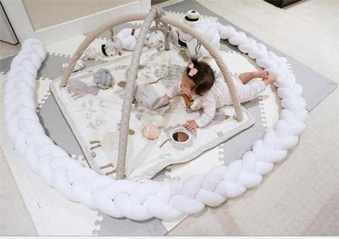Baby Crib Bumper - Braided Cushion Bumper to Protect Your Baby