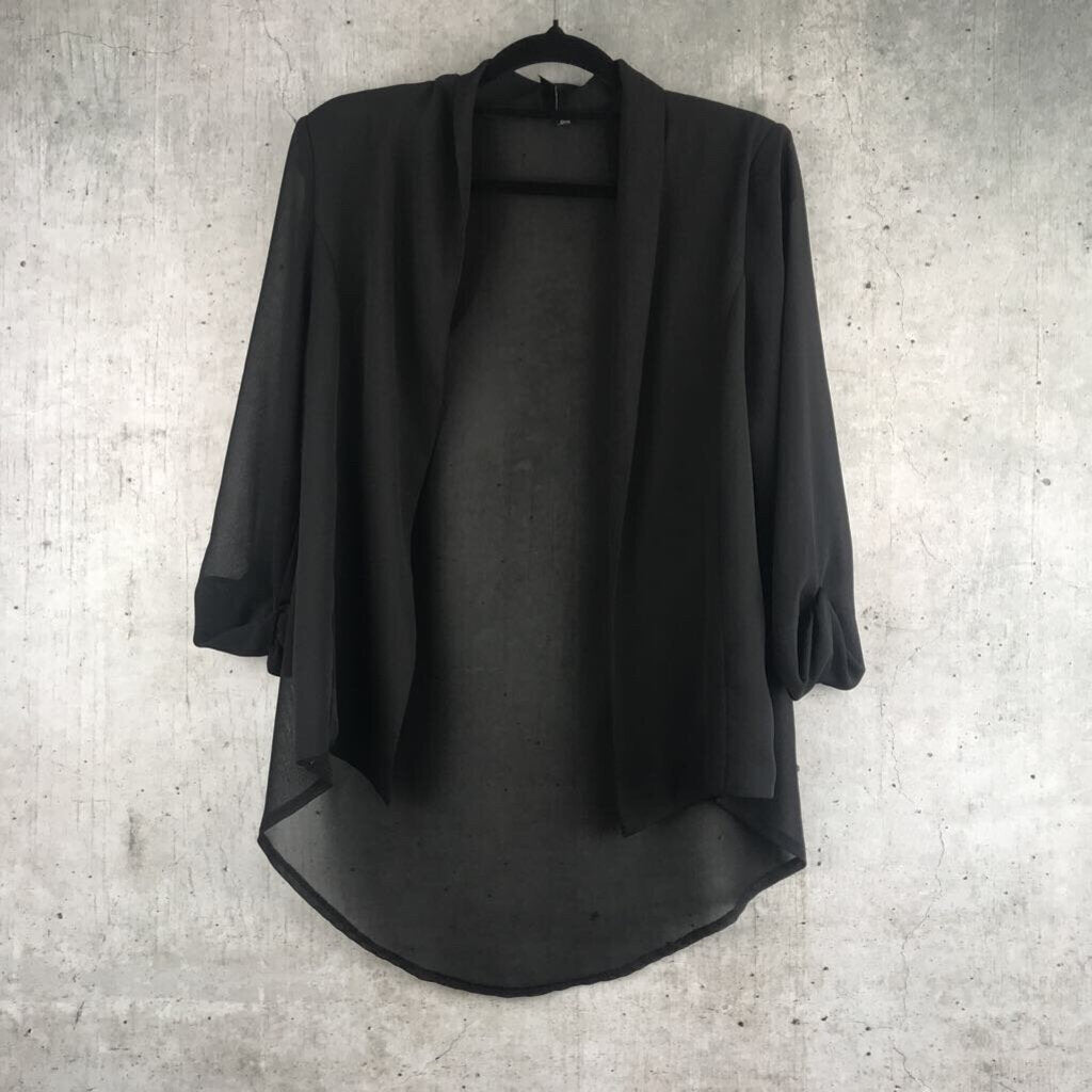 Black Stone Sheer Blazer