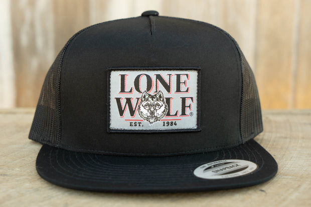 Lone Wolf Flat Bill Trucker Hat