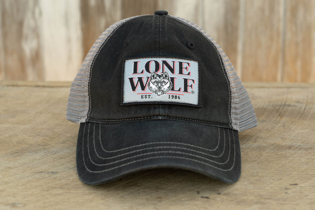 Lone Wolf Garment Washed Trucker Cap