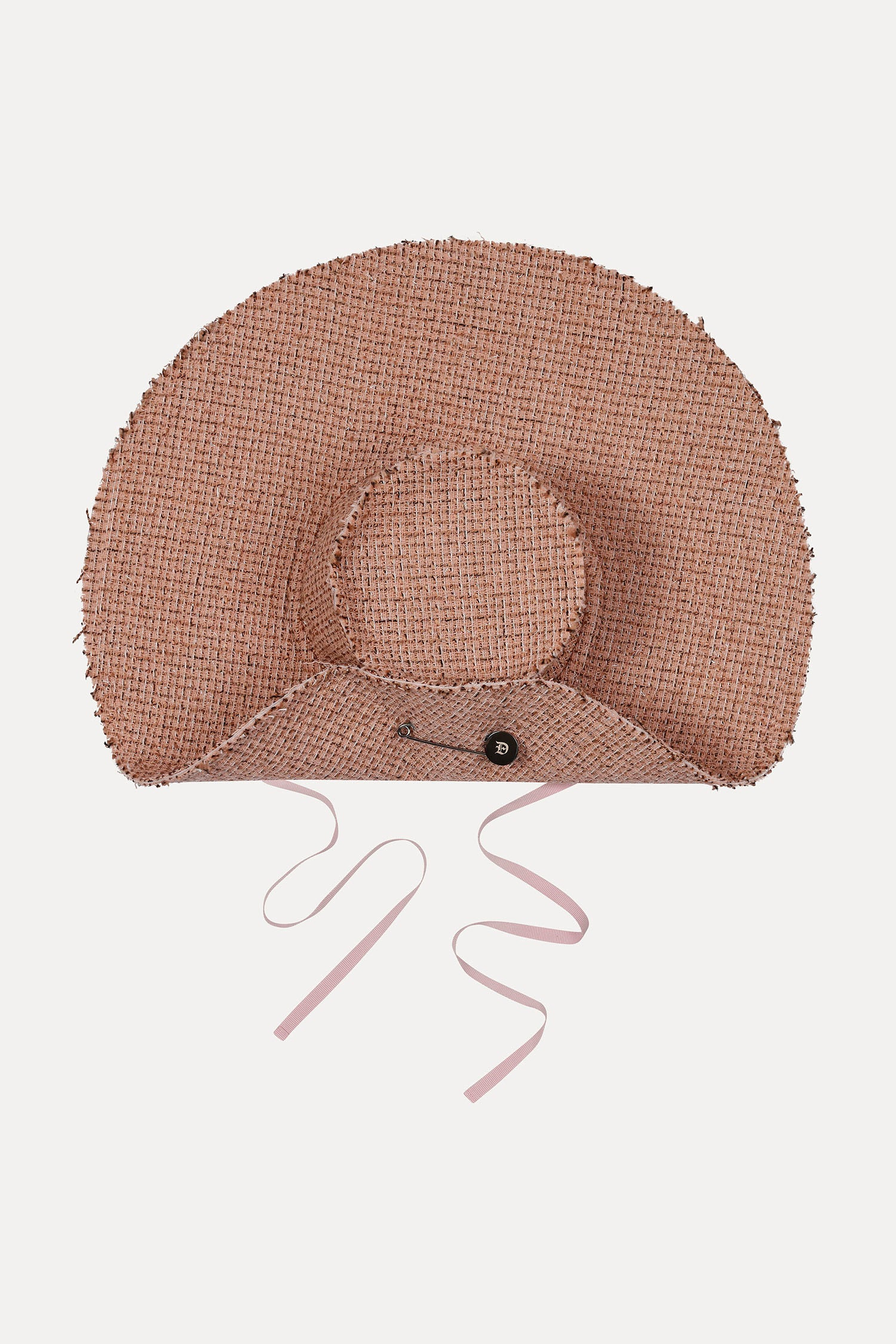 Joana Hat Wide Brim - Pink Tweed
