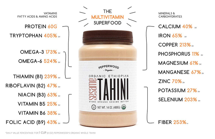 Pepperwood's Organic Sesame-Tahini Paste / Pack of 2