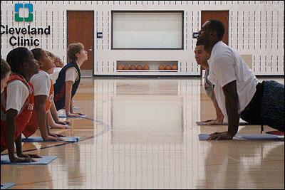 Yoga Pros: LeBron James