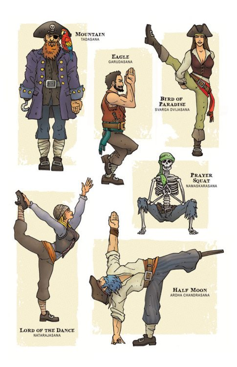 The Lighter Side of Yoga: Pirate Poses